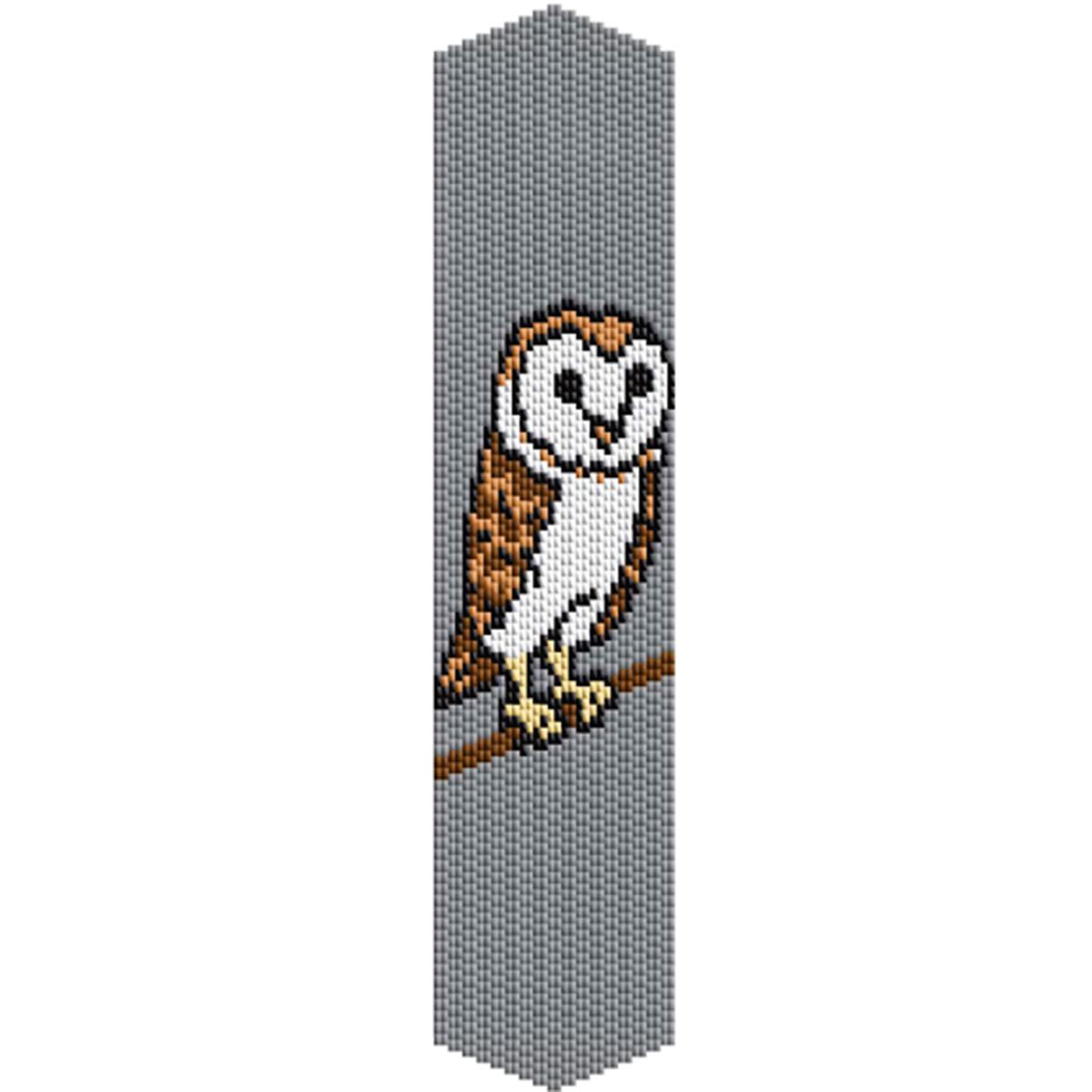 photograph about Free Printable Bead Loom Patterns named Barn Owl Beading Peyote Bracelet Behavior 2 Lose